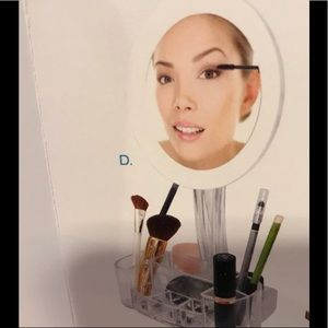 Mirror and accessories holder